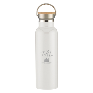 21 Oz. Stainless Steel Liberty Bottle With Wood Lid