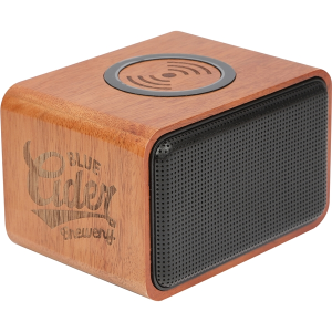 Wood Bluetooth® Speaker with Wireless Charging Pad